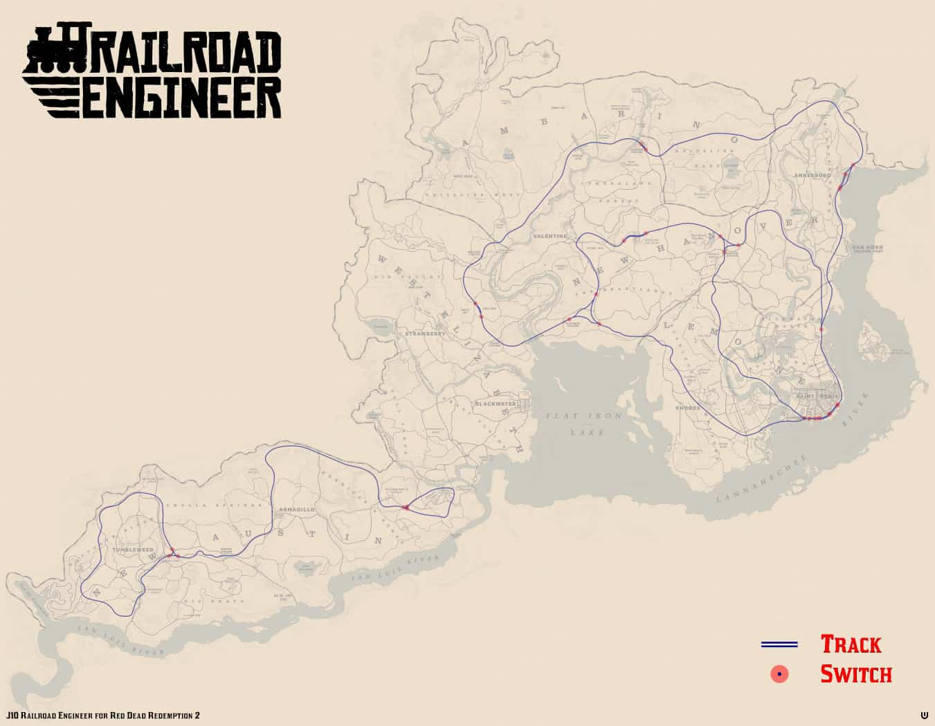 Red Dead Redemption 2 - Railroad Engineer Map