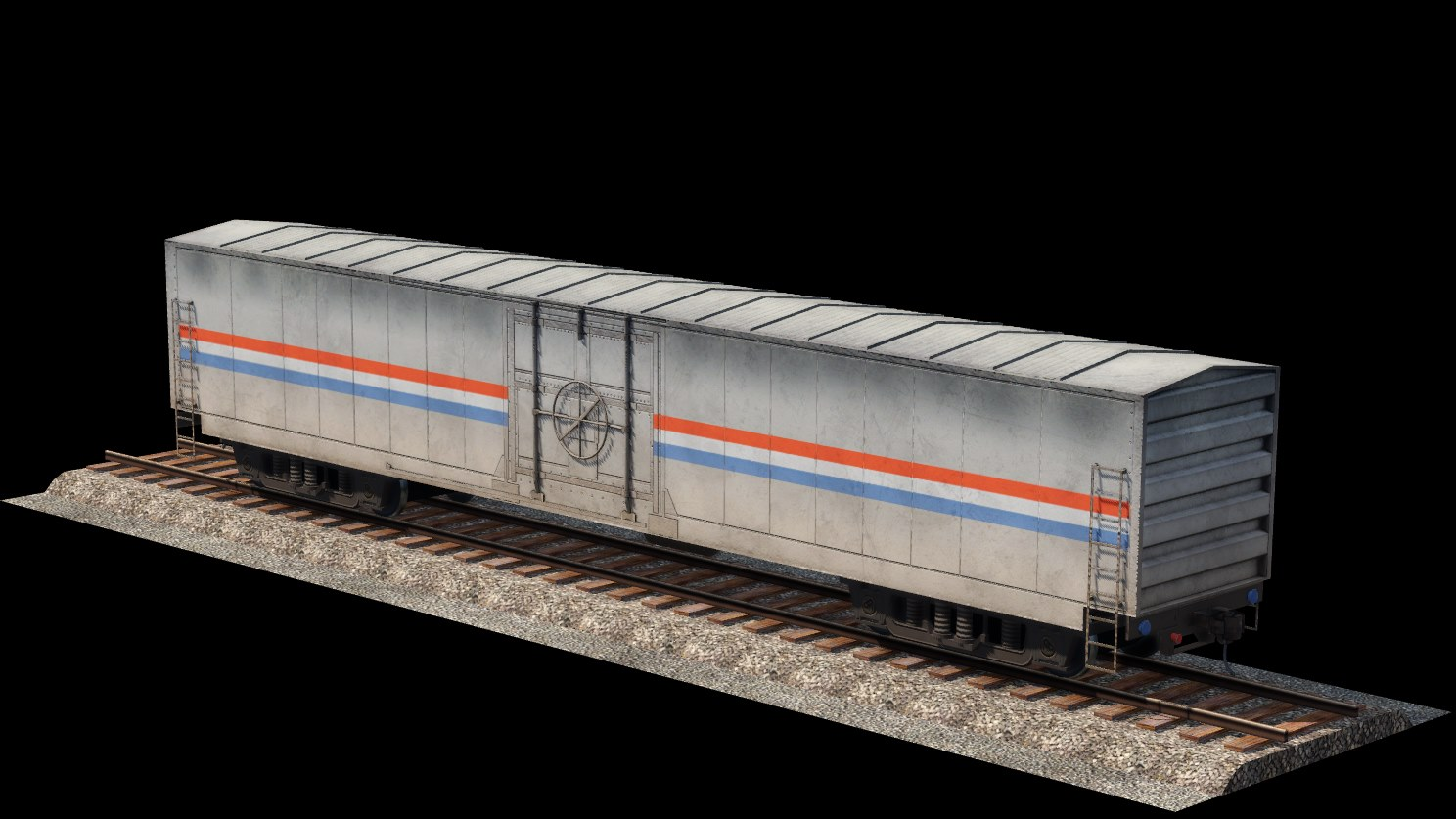 Transport Fever 2 - Amtrak MHC Mail Boxcar
