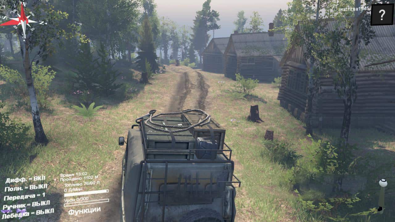 Spintires - Mountain River Map V0.1