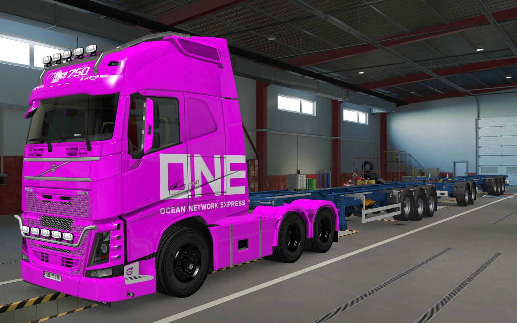 ETS2 - Volvo FH16 2012 One Pink Skin (1.37.x)