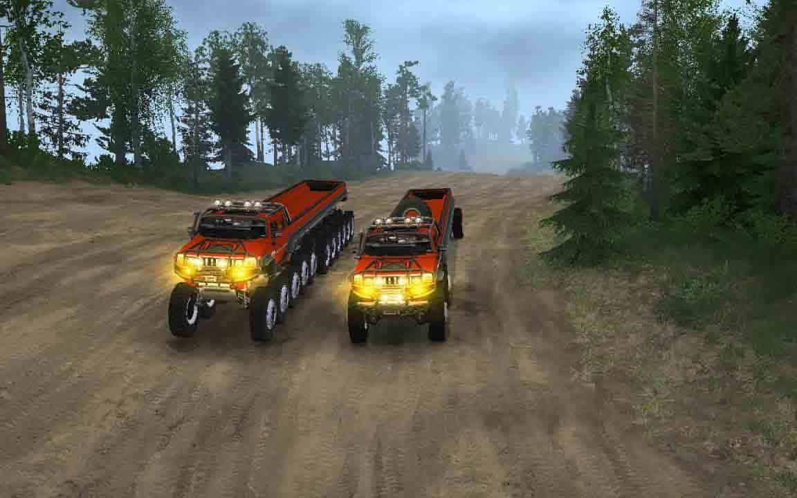 Spintires:Mudrunner - Hummer H2 6x6 and 22x22 Mod