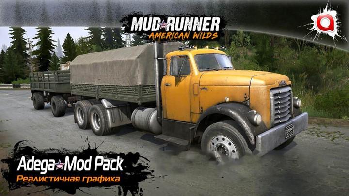 Spintires:Mudrunner - Realistic Graphics Adega Mod Pack V4.4 + Sp