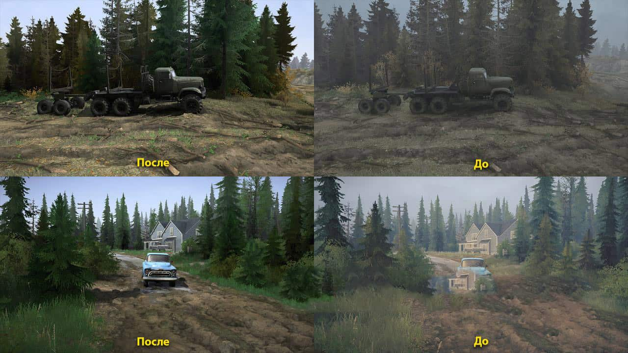 SpinTires:Mudrunner - Realistic Lossless Graphics V2.4