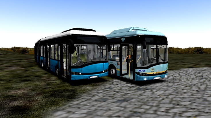 "Omsi 2 – Solaris Urbino Electricfamilie ""Blue Sky"" V2.5"