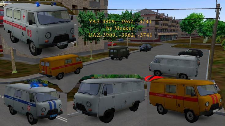 Omsi 2 – Automobiles Uaz-3909, 3962, 3741