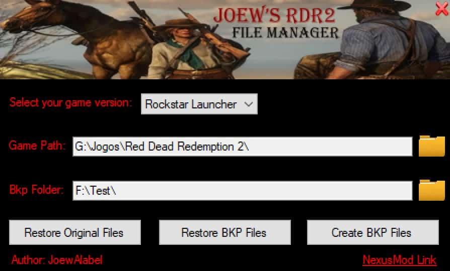 RDR2 - Joews File Manager