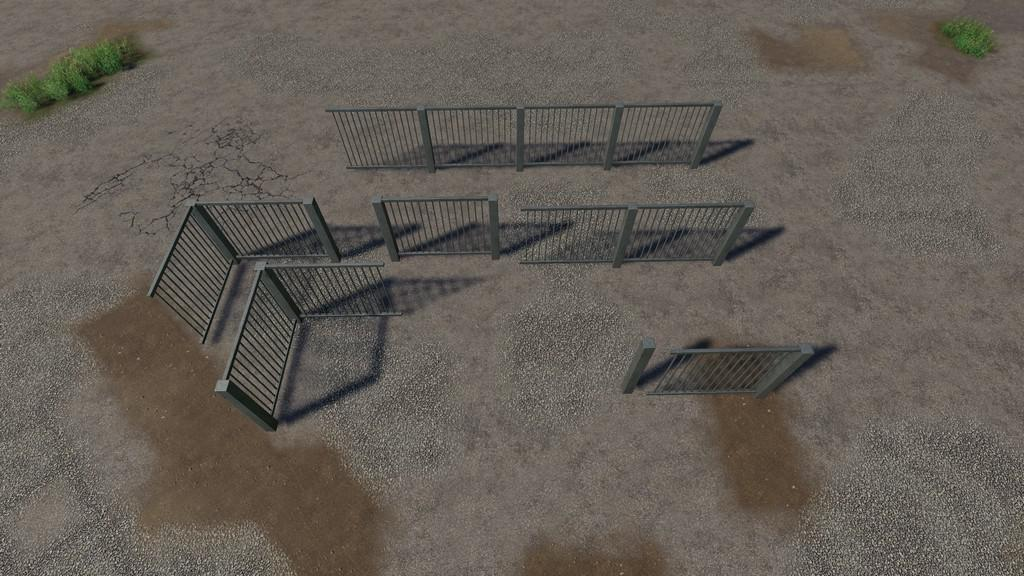 FS19 - Placeable Metal Gates And Fences V2.1