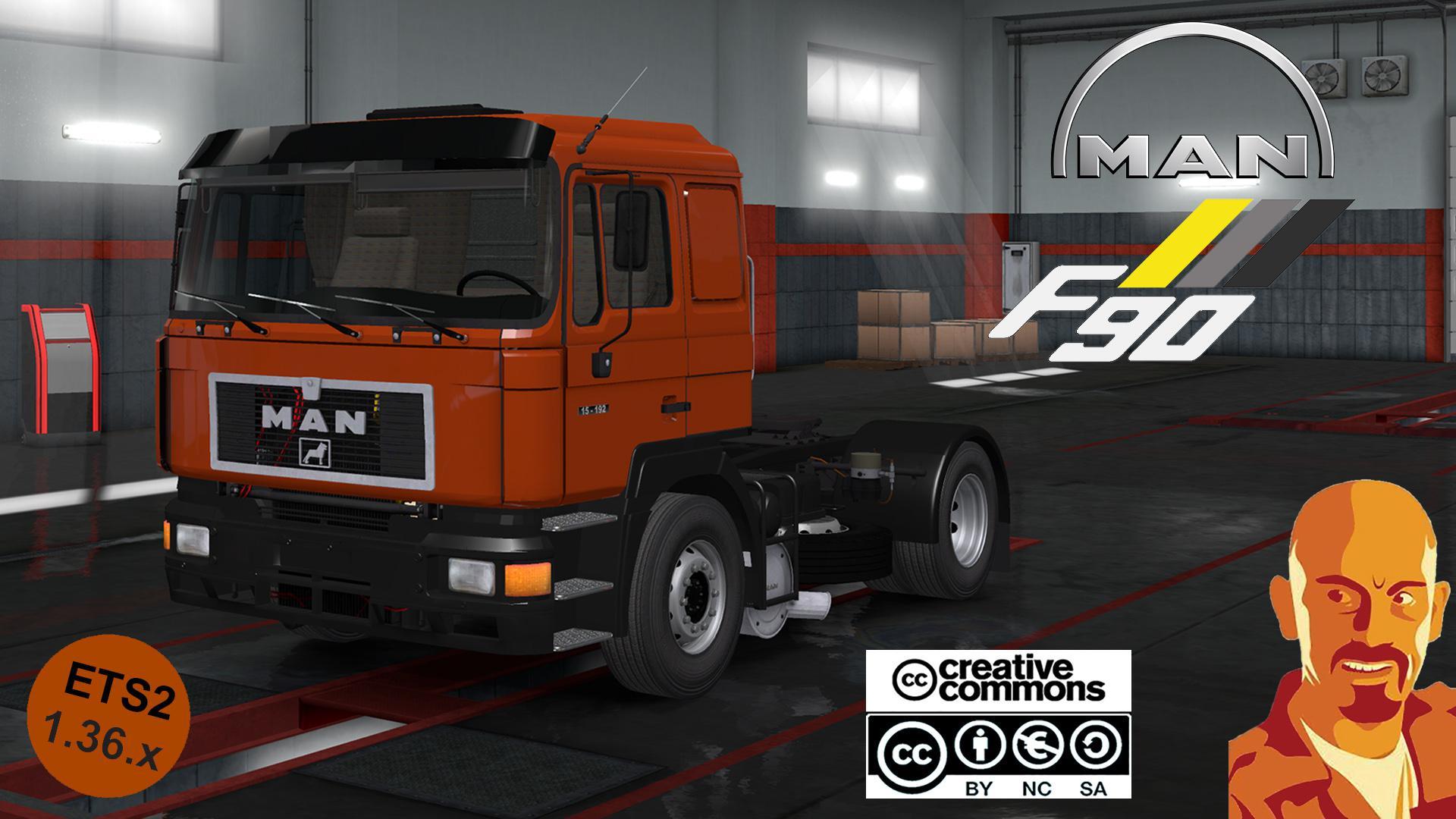 ETS2 - Man F90 Reworked Truck (1.36.x)