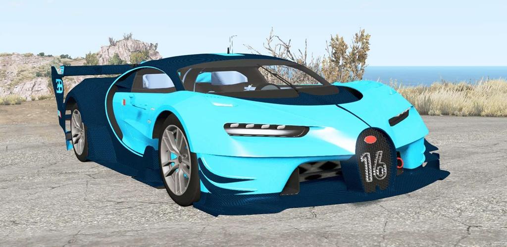 BeamNG - Bugatti Vision Gran Turismo 2015 Car Mod