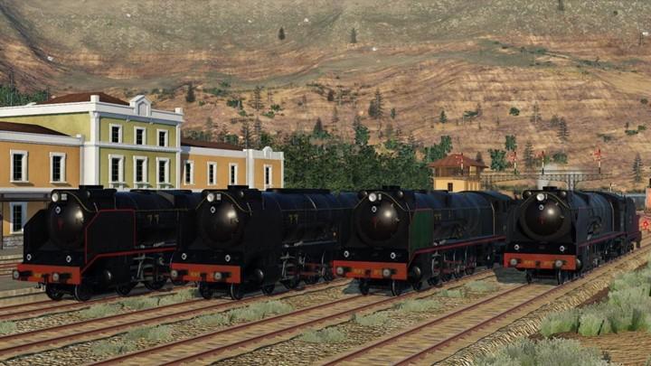 Transport Fever 2 - Renfe 2-4-1 2200 Locomotives