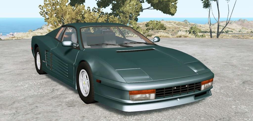 BeamNG - Ferrari Testarossa 1986 Car Mod