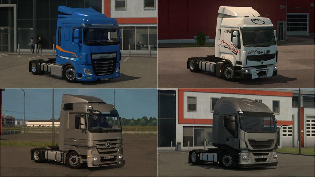 ETS2 - Low Deck Chassis Addons for Schumi Trucks V2.5 (1.35.X)