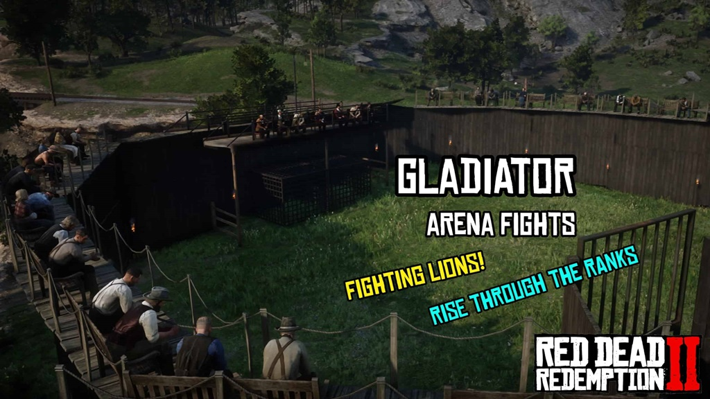 RDR2 - Gladiator Arena With Bleacher Map