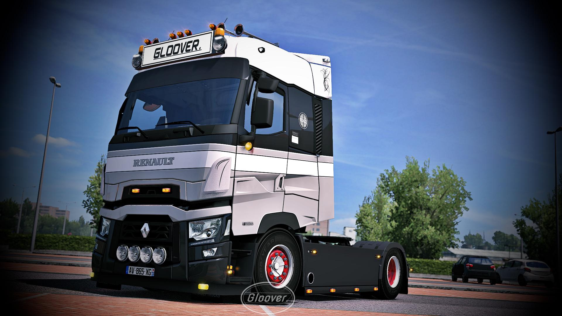 ETS2 - Light Improvements & Lowered Chassis Renault T v1.4 (1.36.x)
