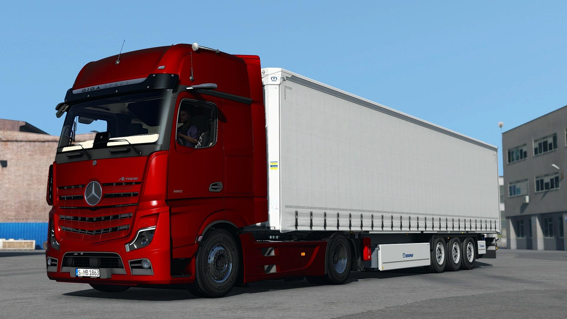 ETS2 - Mercedes Benz New Actros 2019 by Actros 5 Crew v1.2