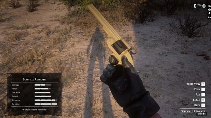 RDR2 - Gunslinger Ebony Grip on Schofield Revolver