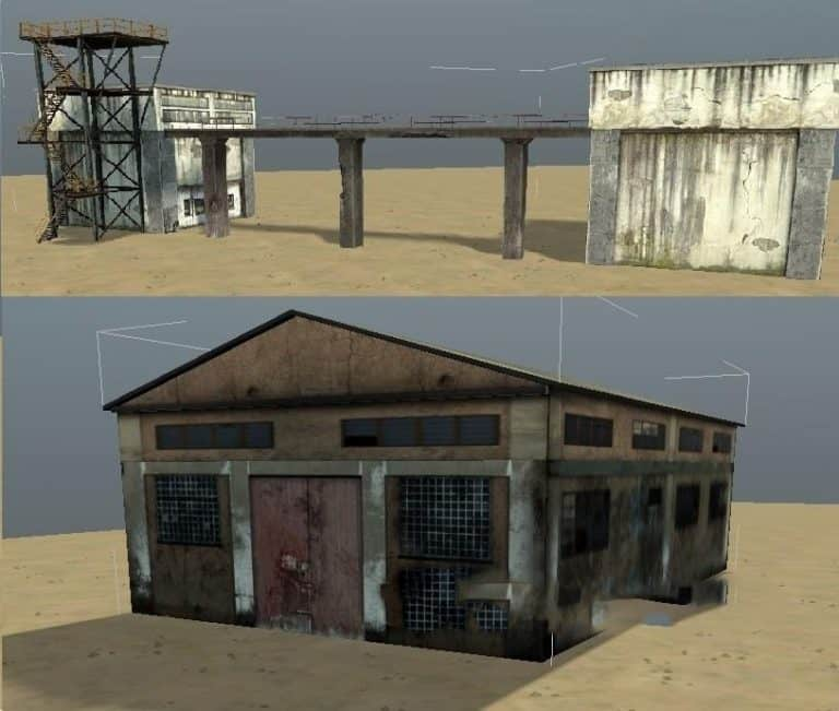 Spintires:Mudrunner - Models of industrial Zone Buildings for The Editor V1