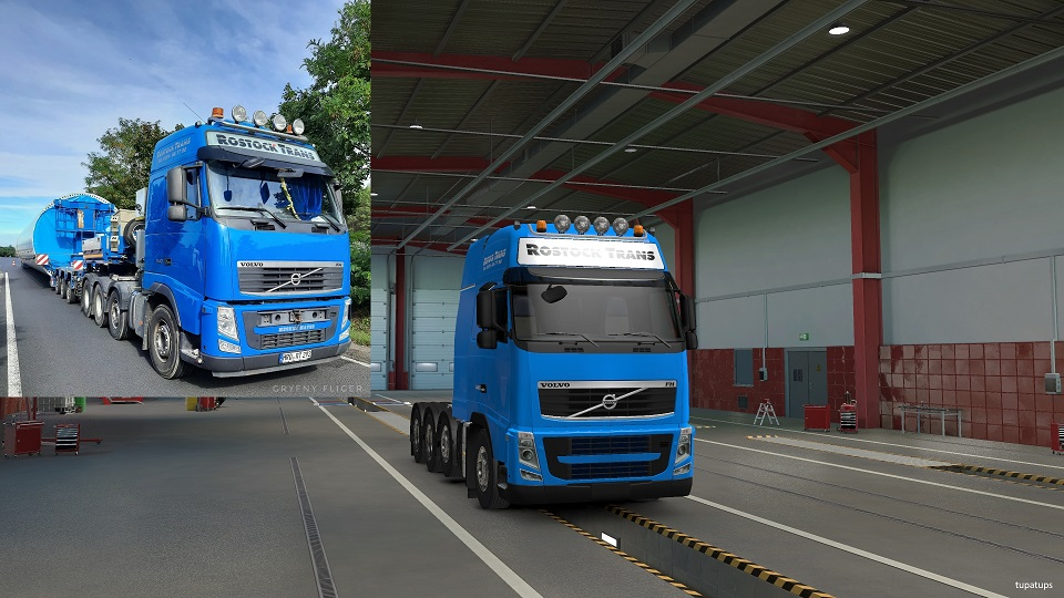 ETS2 - Rostock Trans Skin for Schumi Volvo FH&FH16 2009 Reworked (1.39.x)