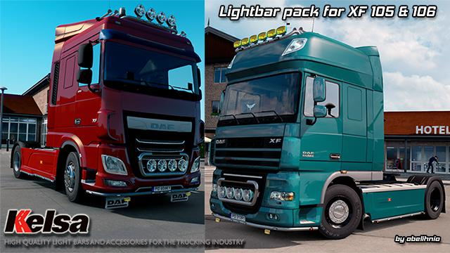 ETS2 - Kelsa Lightbars for Daf XF 105 & 106 (1.36.x)