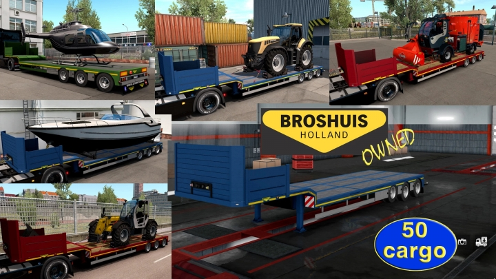 ETS2 - Ownable Overweight Trailer Broshuis V1.2.7 (1.41.x)