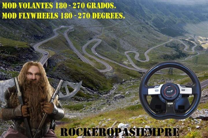 ETS2 - Mod for Steering Wheel of 180-270 Degrees (1.40.x)