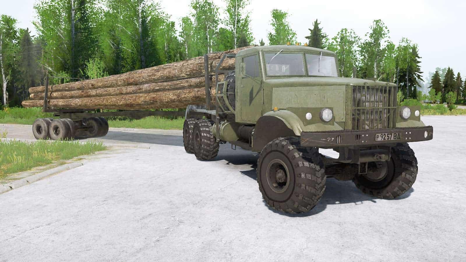 Spintires:Mudrunner - KRAz 256B1 Truck