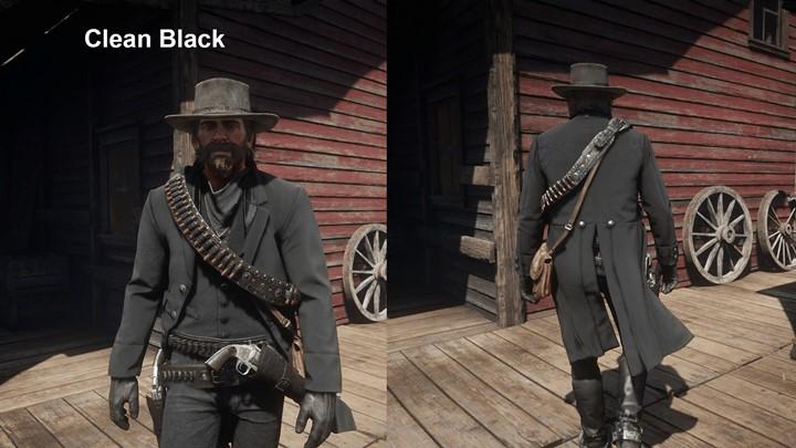 RDR2 - Worn Shotgun jacket Black or Olive
