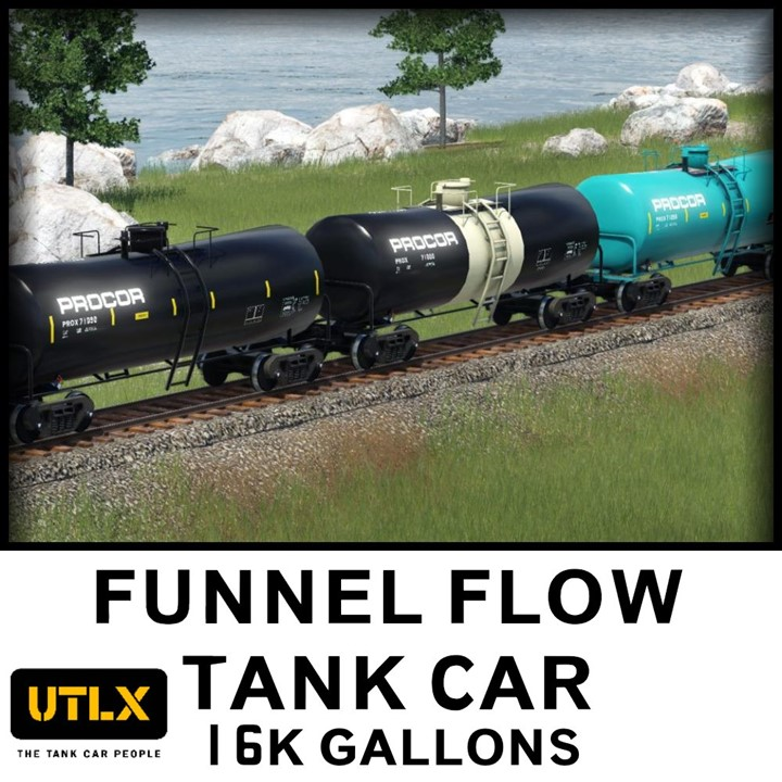 Transport Fever 2 - 16k Gallon Funnel Flow Tankcar