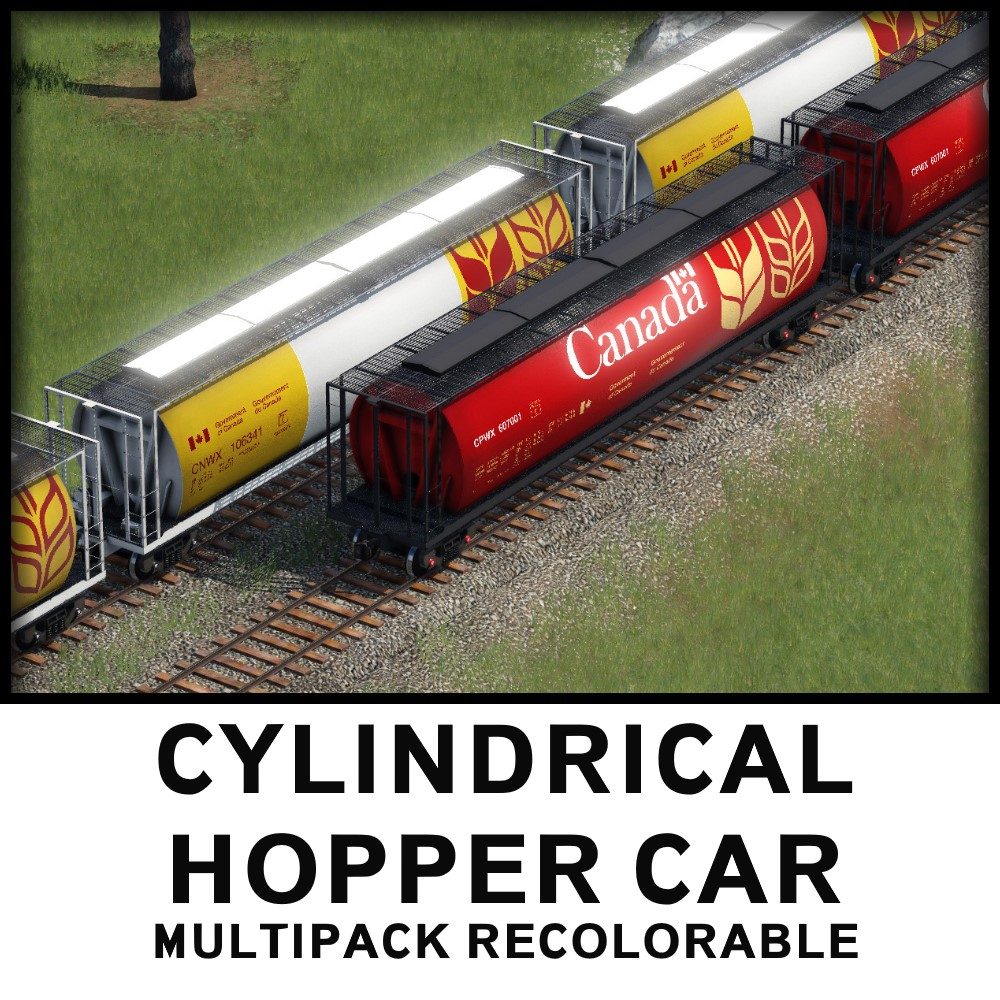 Transport Fever 2 - Cylindrical Hopper Car