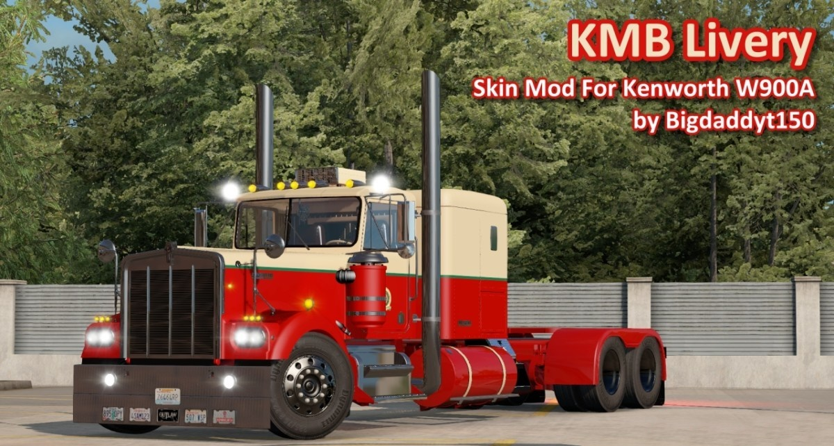 ATS - Kenworth W900A KMB Livery Skin (1.36.x)