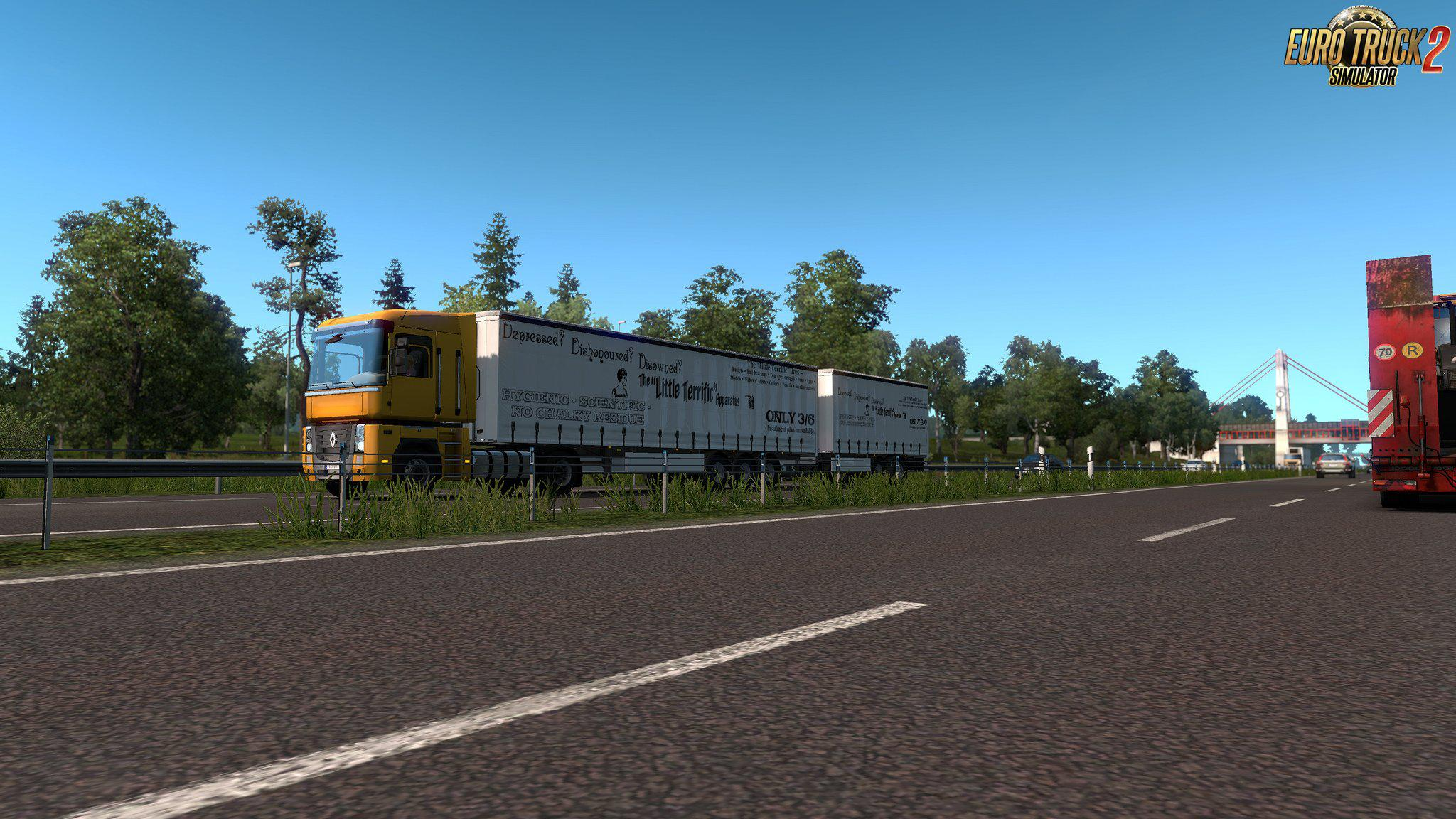 ETS2 - Multiple Trailers in Traffic Mod V4 1 (1 35 X) | Euro
