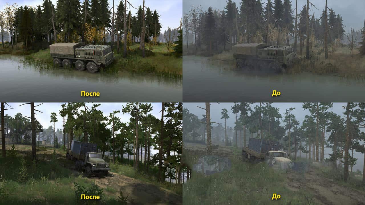 Spintires:Mudrunner - Realistic Graphics Adega Mod Pack V1.9