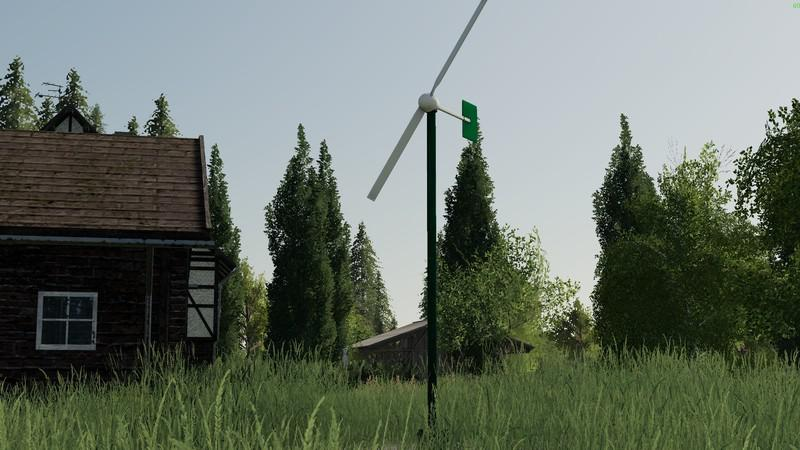 FS19 - Two-Wing Mini Wind Turbine V1.0