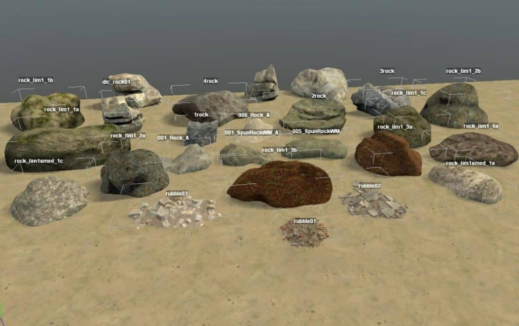 Spintires:Mudrunner - Stones for the Map Editor V1
