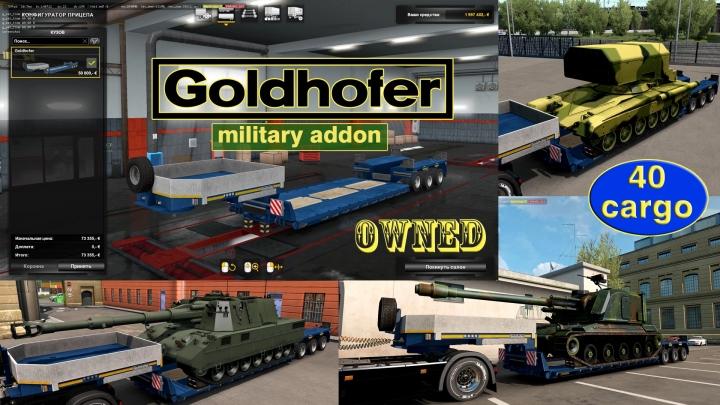 ETS2 - Military Addon for Ownable Trailer Goldhofer V1.4.6 (1.41.x)