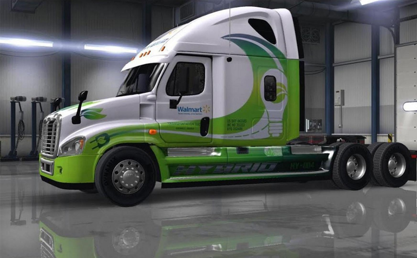 ATS - Freightliner Cascadia 50 Skins Pack (1.37.x)