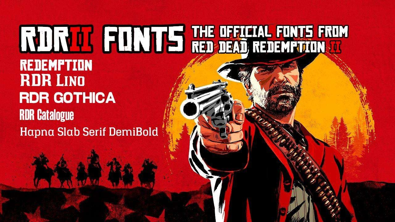 Red Dead Redemption 2 - Fonts (Cyrillic, Latin)