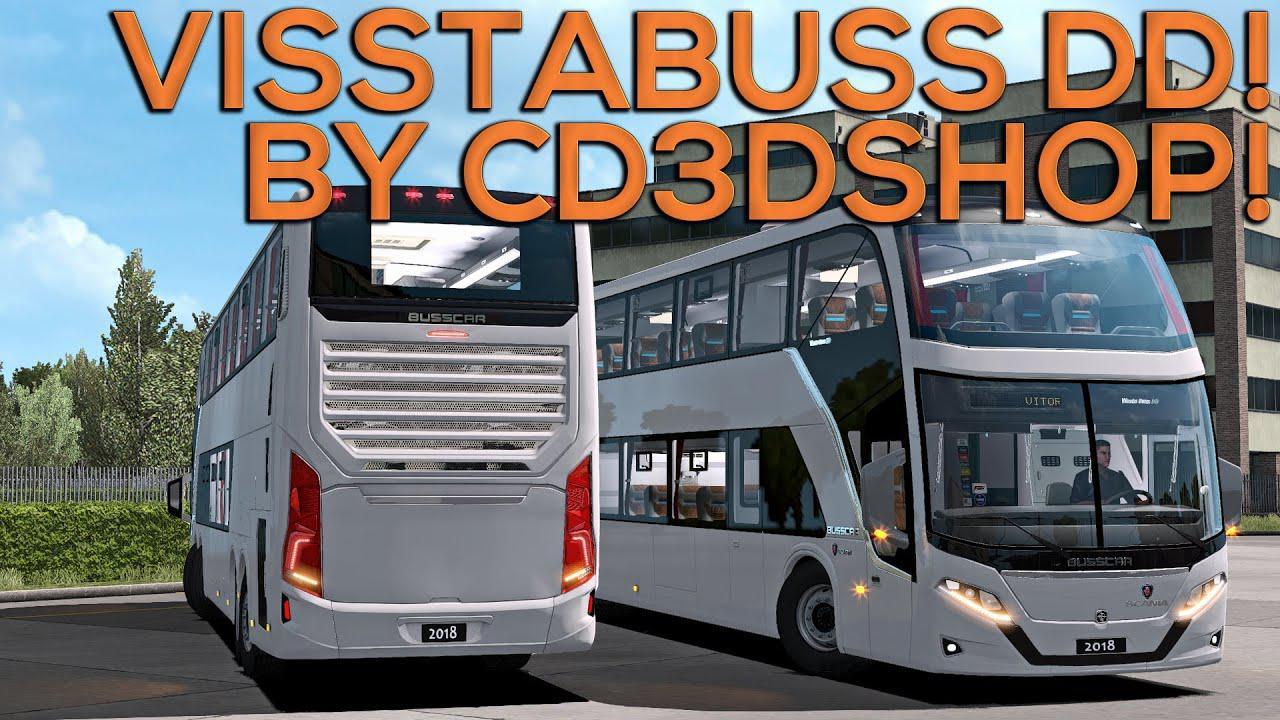 ETS2 - Busscar Vissta Buss DD 6x2 8x2 V4.0 (1.35.X)