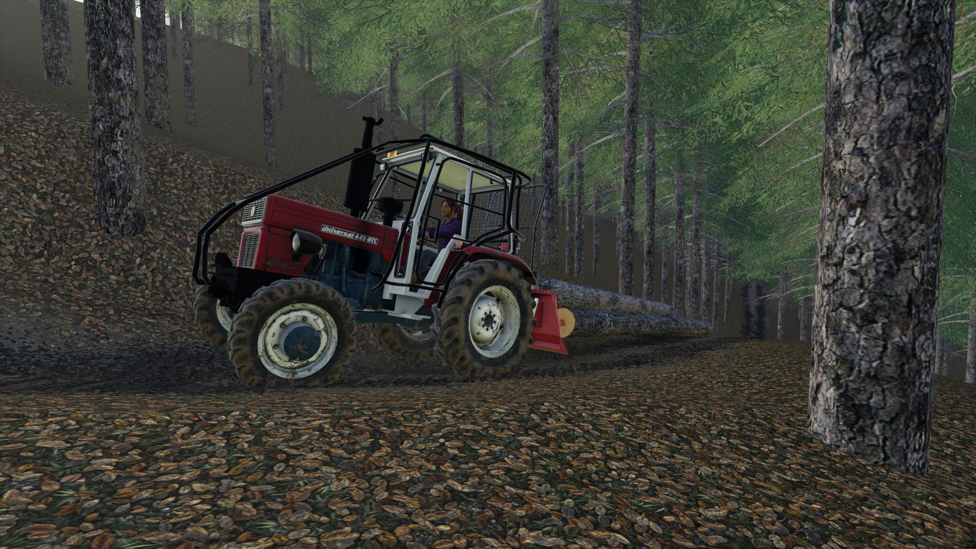 FS19 - Universal 445 Turbo Forest Tractor V1.0