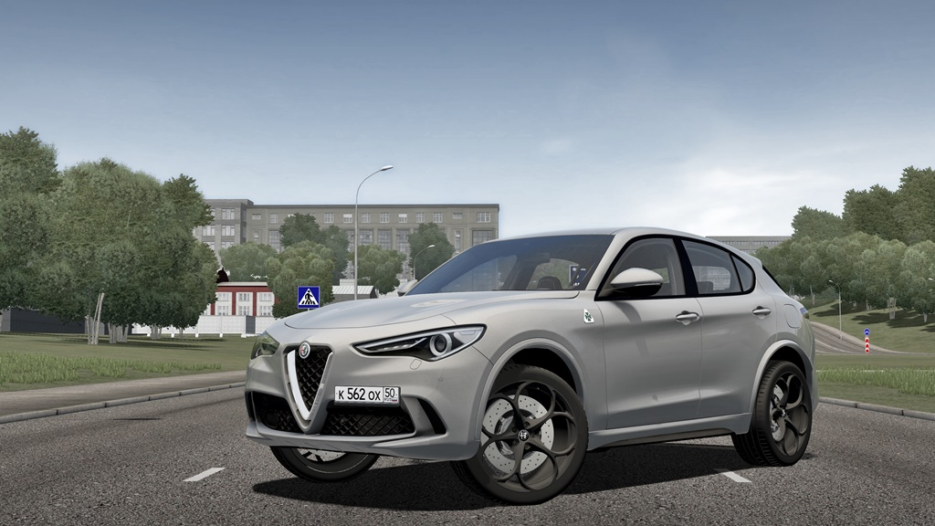 City Car Driving 1.5.8 - Alfa Romeo Stelvio Quadrifoglio 2018
