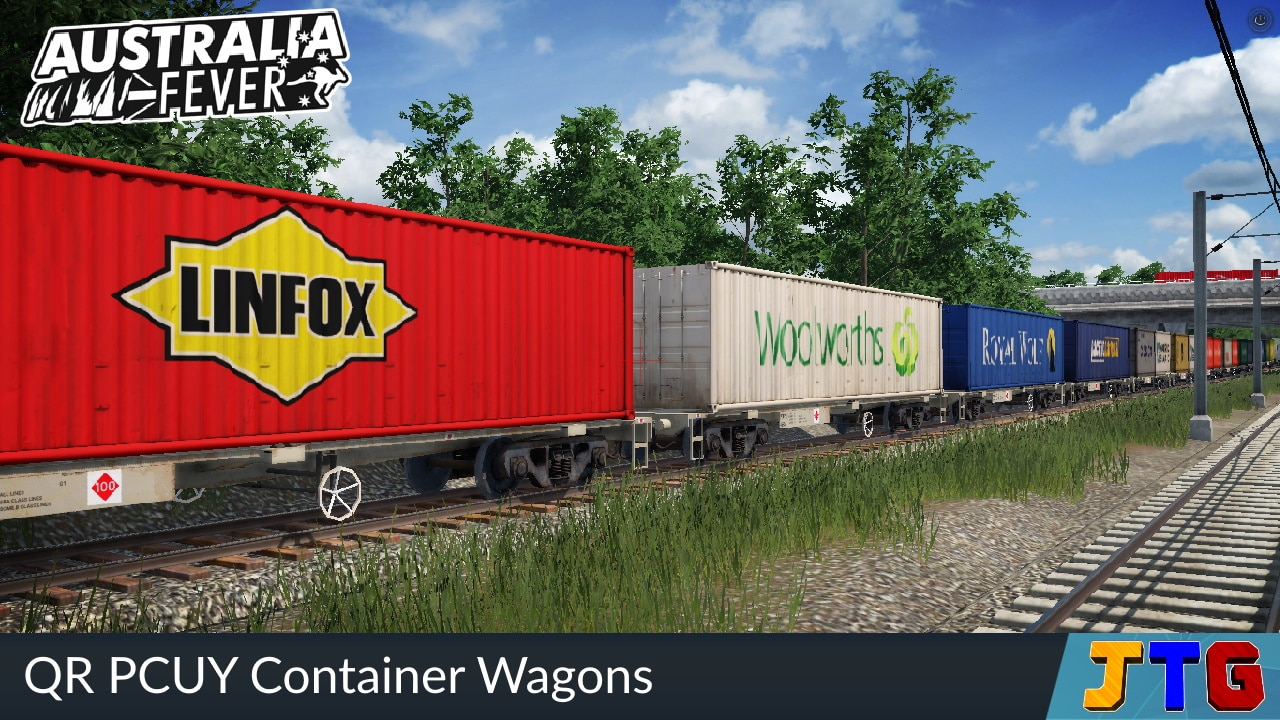 Transport Fever 2 - QR Pcuy Container Wagons Pack