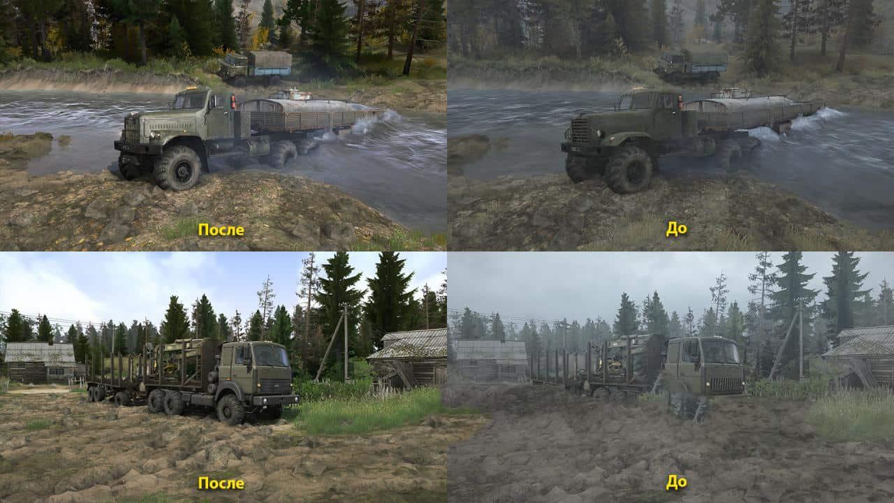 Spintires:Mudrunner - Realistic Graphics Adega Mod Pack V1.8