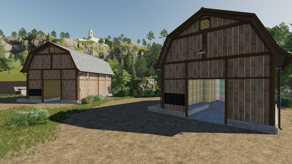 FS19 - Bale Storage Barns V1.0.1.0