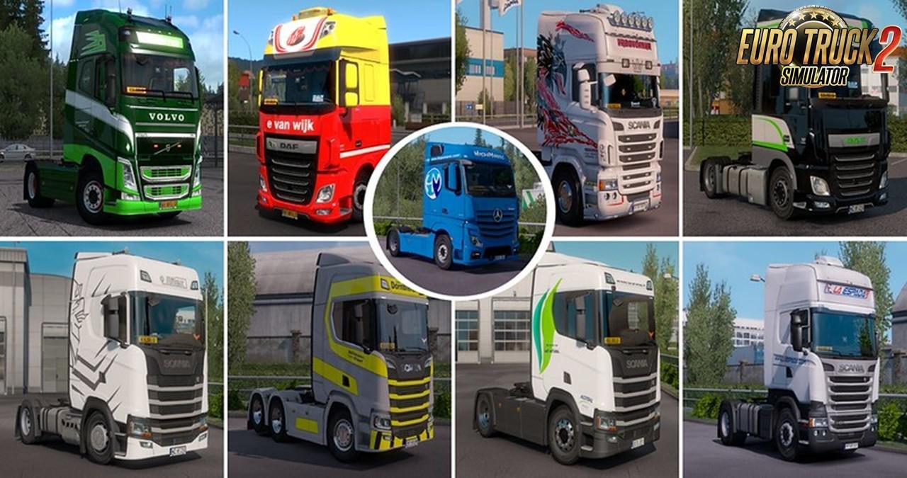 ETS2 - Real Company Truck Skins V1.2 (1.35.X)
