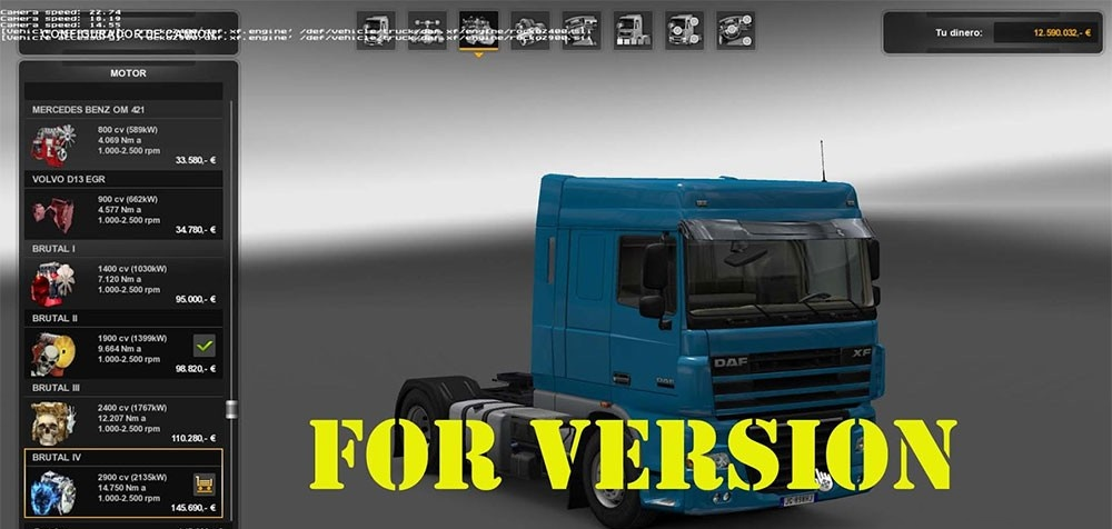 ETS2 - Pack Powerful Engines + Gearboxes V12.0 (1.35.X)