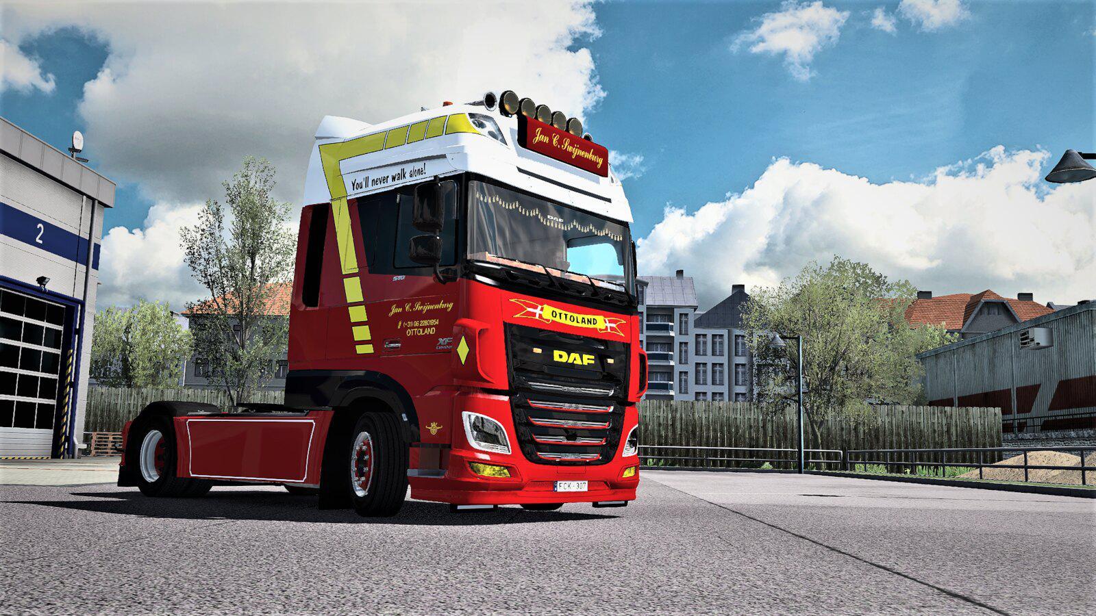 ETS2 - Daf XF Euro 6 Jan C. Swijnenburg Skin V1.0 (1.35.X)