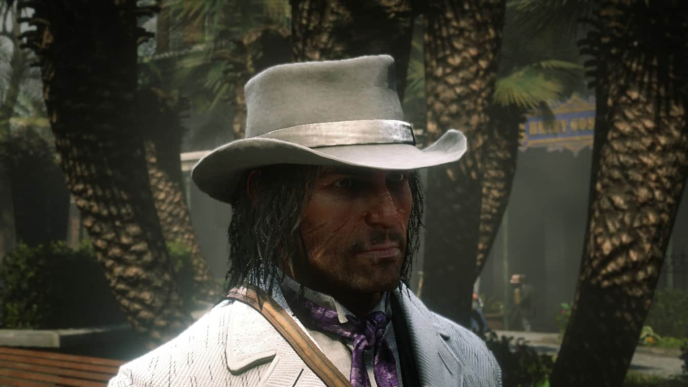 RDR2 - White Gambler Hat