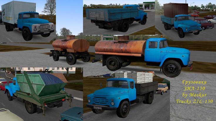 Omsi 2 – Zil-130 Trucks in Various Variants for Traffic Mod