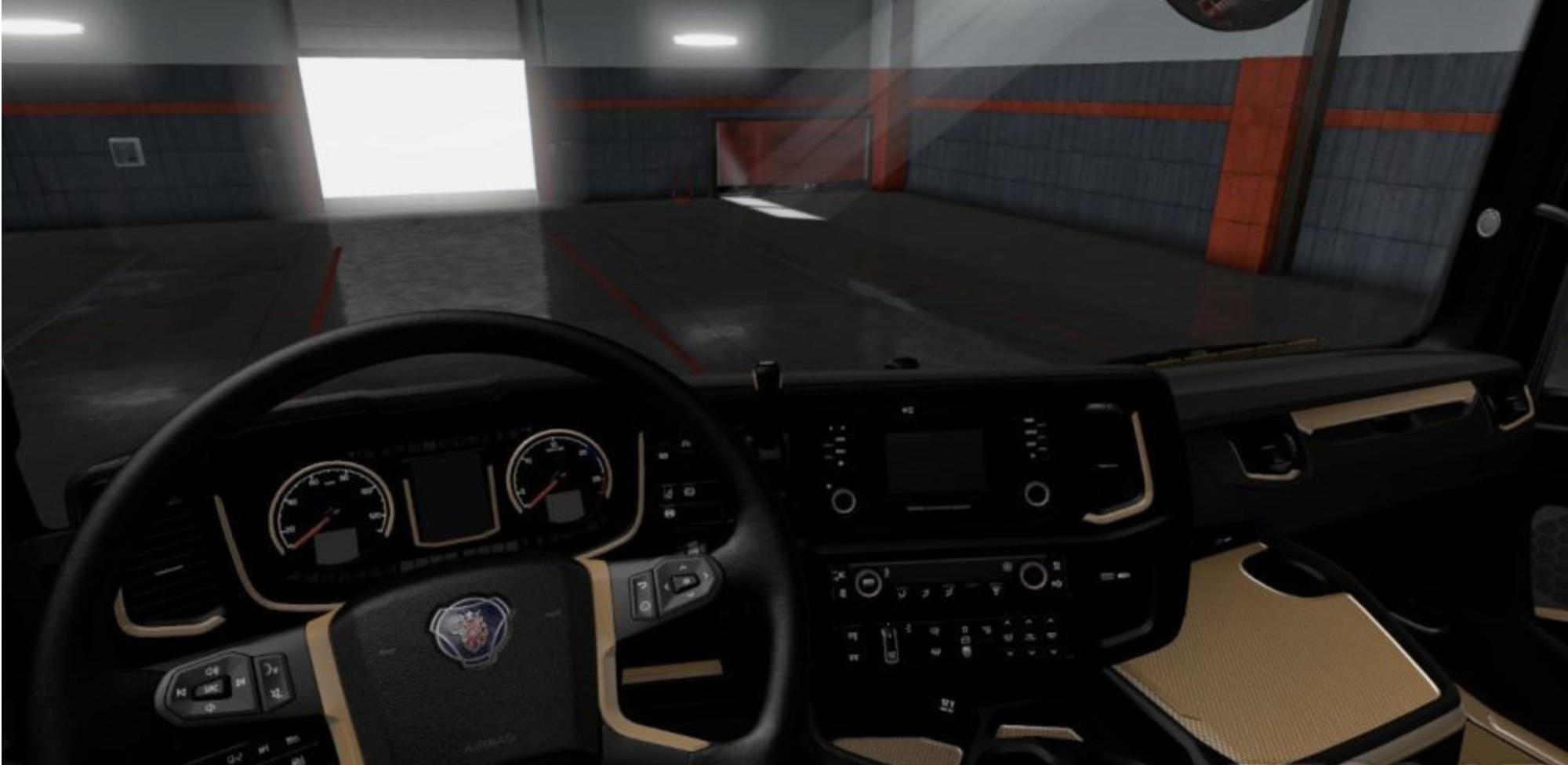 ETS2 - Scania S & R 2016 Black - Brown Interior (1.36.x)