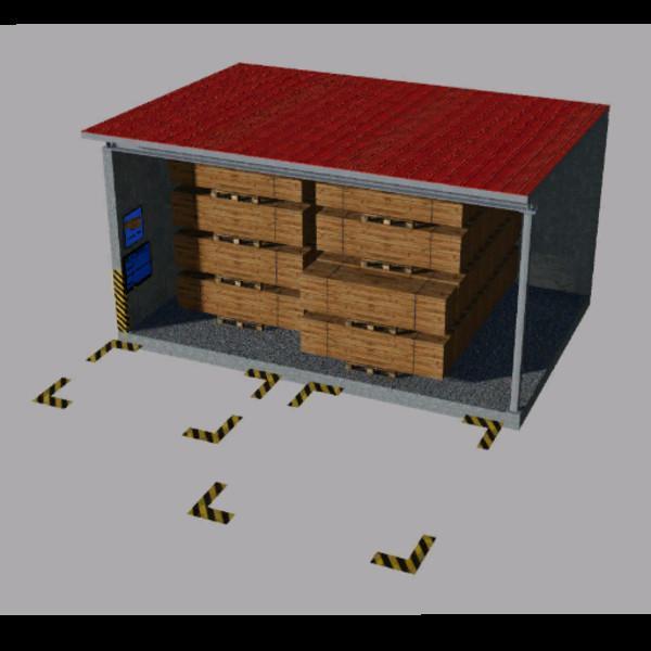 FS19 - Warehouse for Pallets Multimap 2019 V1.2